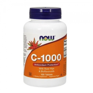 VITAMIN C-1000 WITH ROSE & BIOFLAWONOIDS 250 tabl. - Now Foods